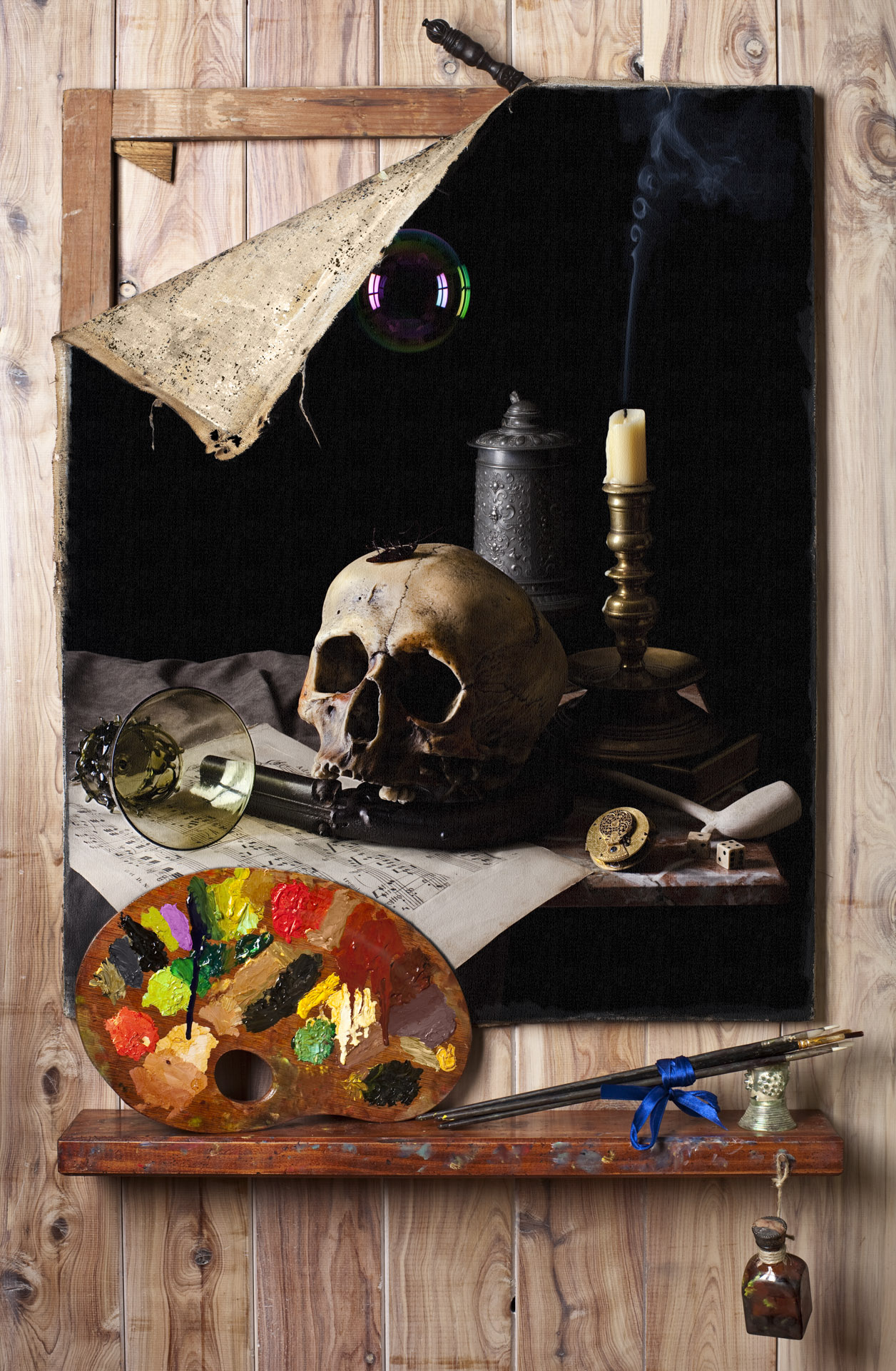 Vanitas in the style of Cornelius Gijsbrechts