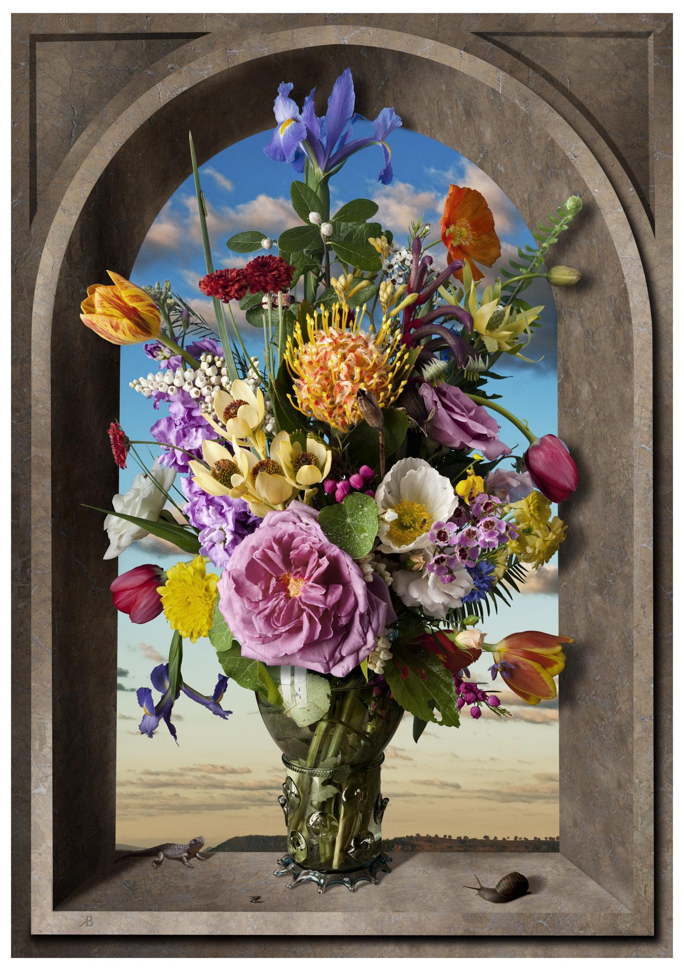 Still life with flowers after Ambrosius Bosschaert