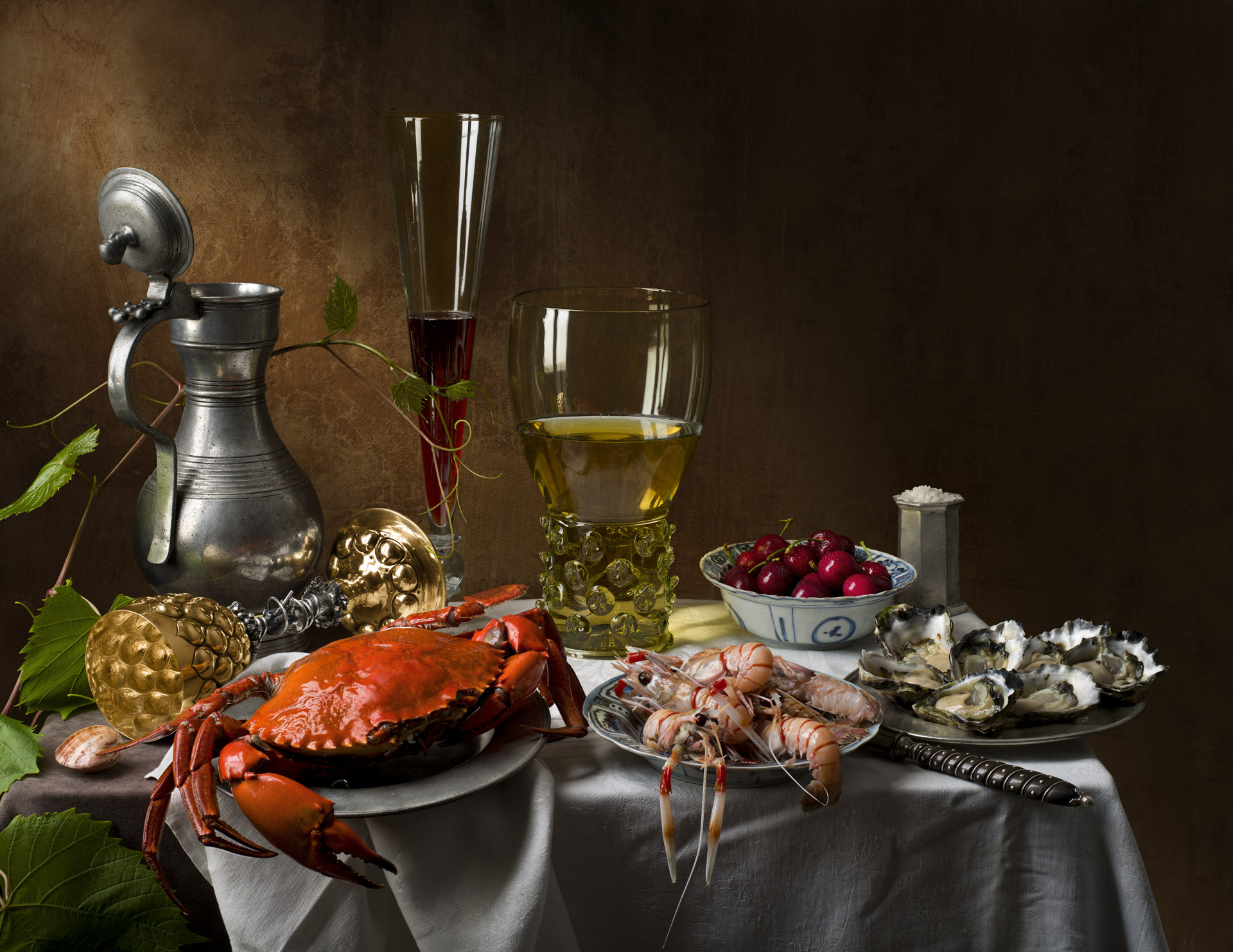 Still life with Crab and Scampi