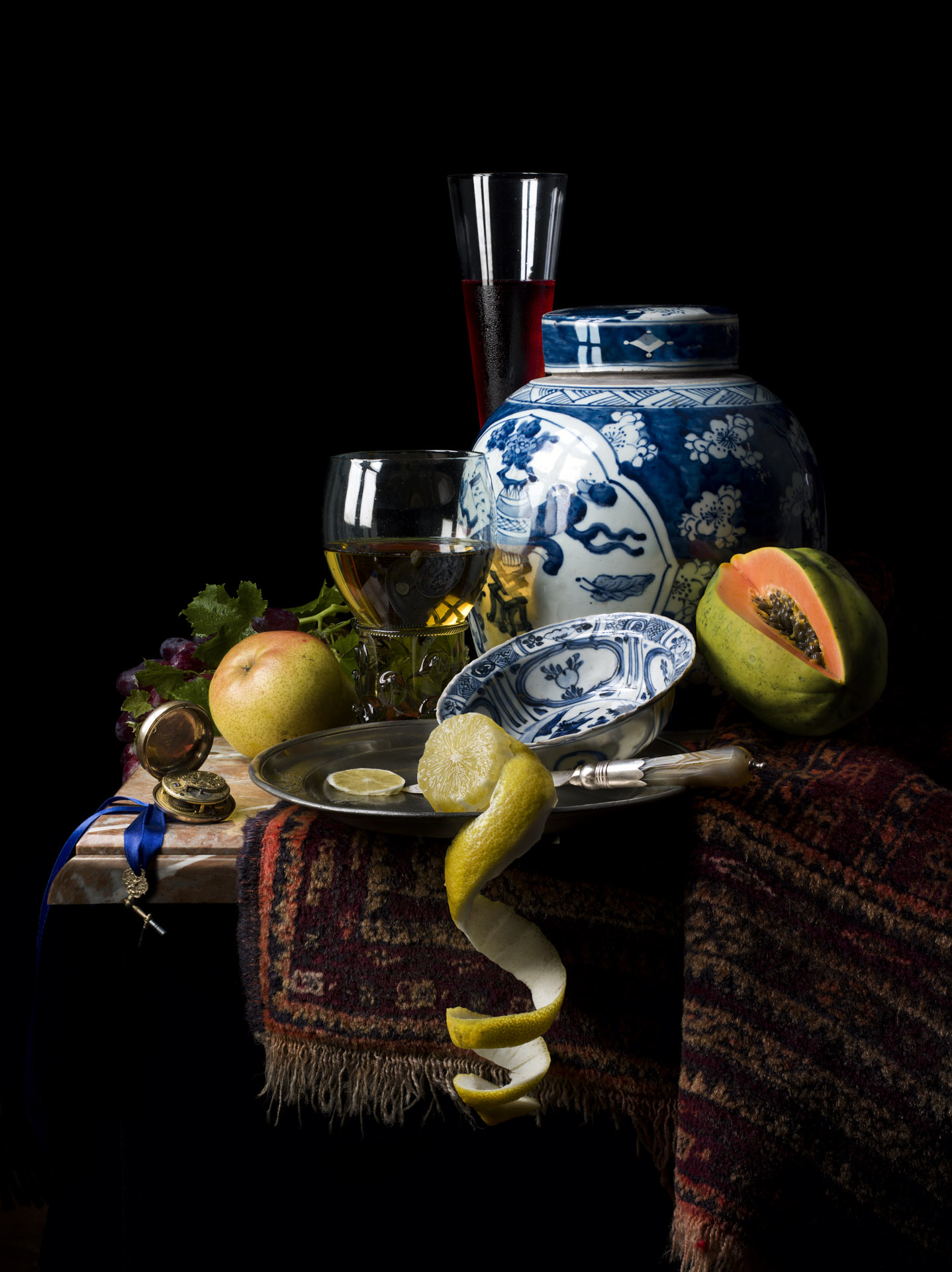 Still life with ginger jar and Kraak bowl