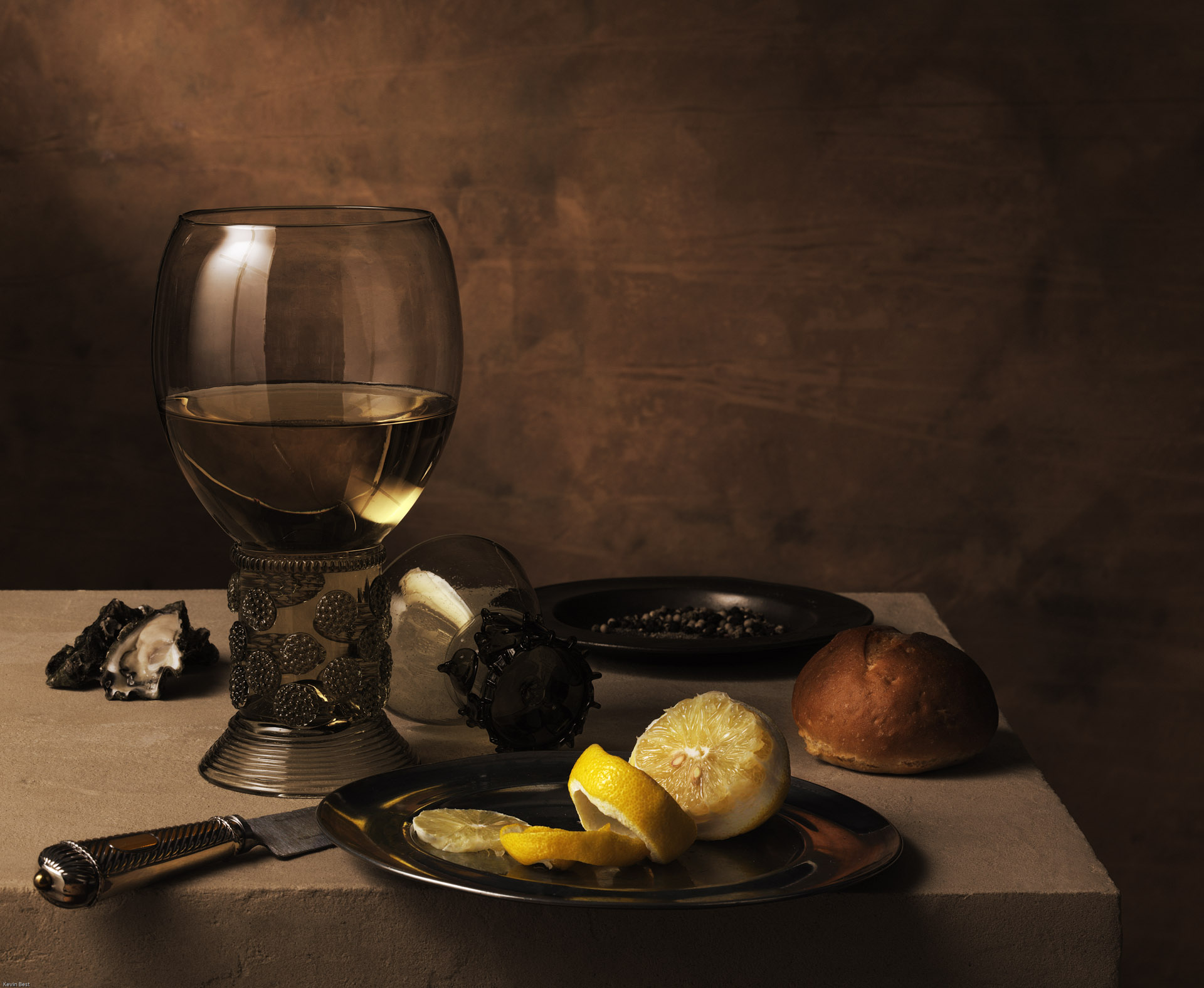 Still Life with Roemer and Lemon