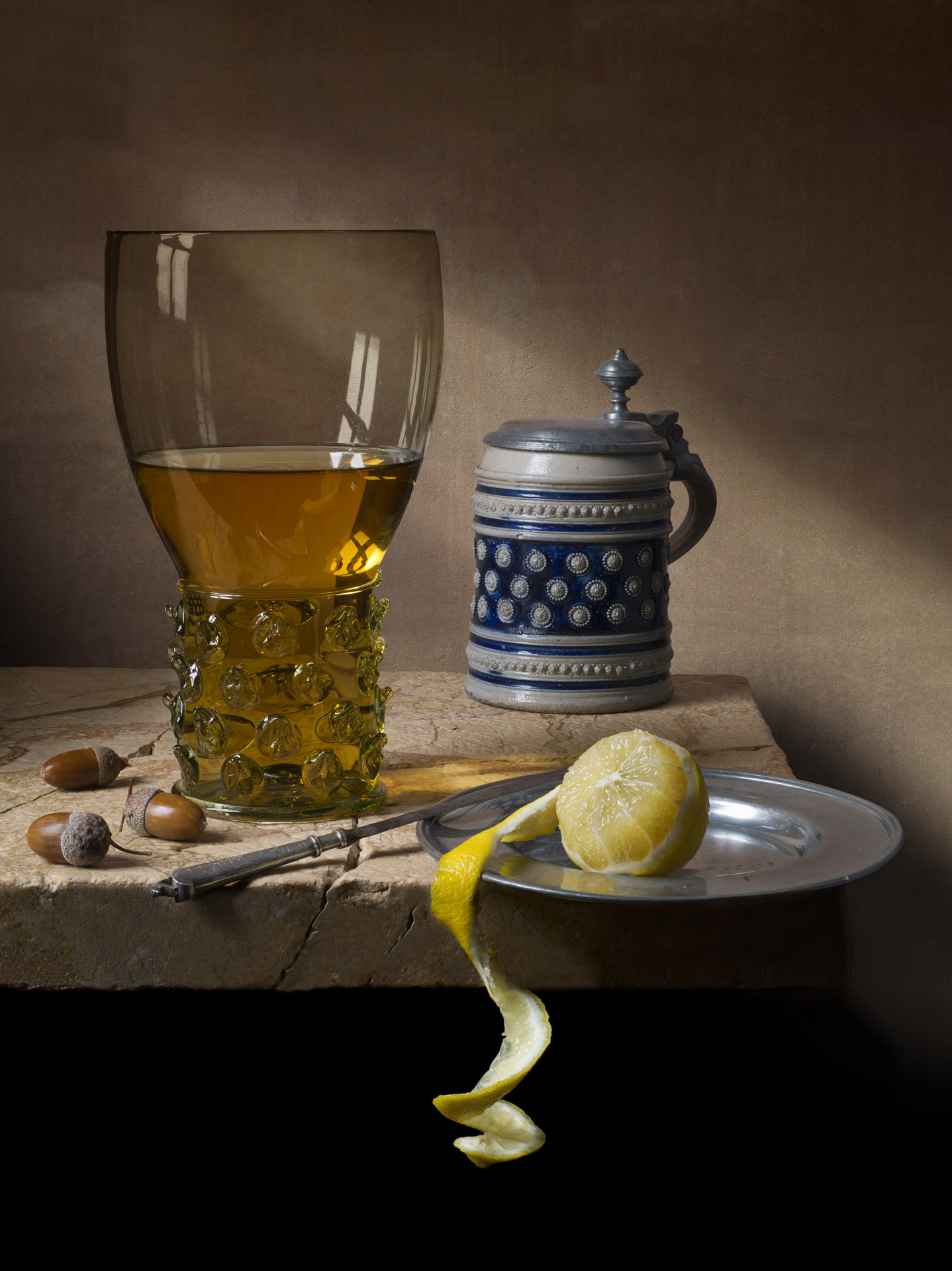 Still life with roemer and stein