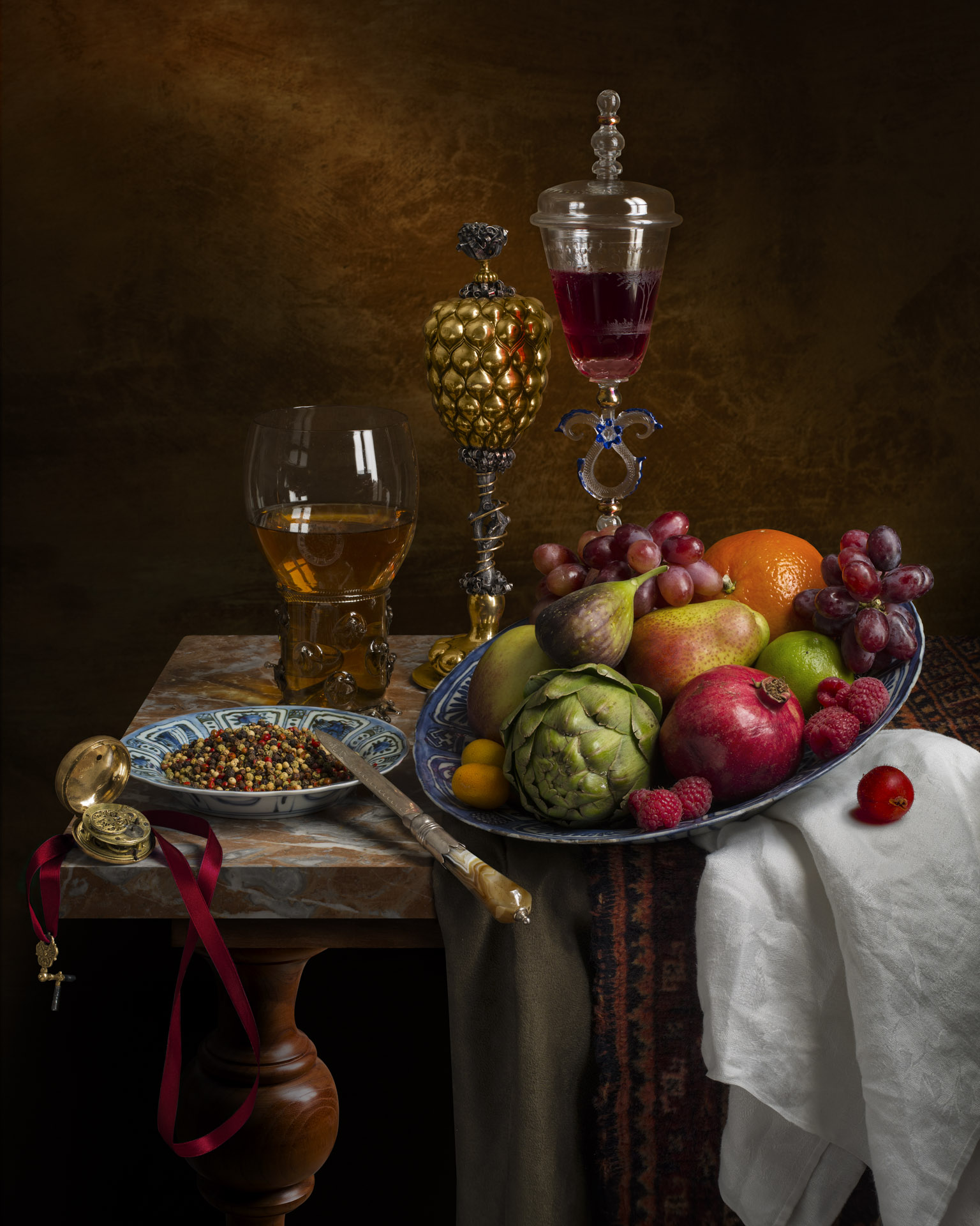 Still life with peppercorns